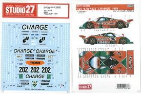 1/24 マツダ767B #202 CHARGE 1989(H社1/24)【スタジオ27デカール DC1218】