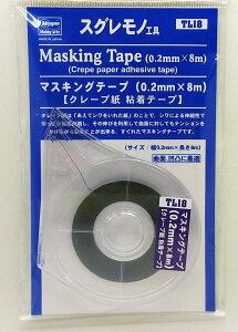 マスキングテープ(0.2mm×8m)【クレープ紙 粘着テープ ハセガワ限定 TL18】