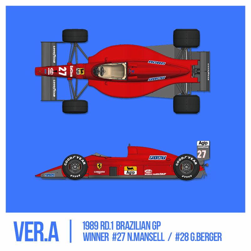 フェラーリ F1-89(640) Ver.A : Early Type※スポンサーデカール付き【モデルファクトリーヒロ 1/12 K694】