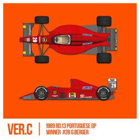 フェラーリ F1-89(640) Ver.C : Late Type※スポンサーデカール付き【モデルファクトリーヒロ 1/12 K696】