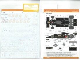 1/20 LOTUS タイプ78 1977(T社「J.P.S.Mk3 ロータス78」「チーム ロータス タイプ78 1977」対応)【SHUNKOデカール SHK-D413】