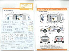 1/24 ゼクセルGT-R Gr.N 1990-91スパ(T社「ゼクセル・スカイラインGT-R Gr.N」対応)【SHUNKOデカール SHK-D440】