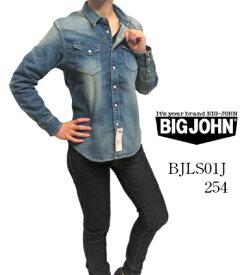 ビッグジョン BIG JOHN BJLS01J-254 ジーンズ デニム ウエスタン シャツ DENIM WESTERN SHIRT デニム コンプリート フリー