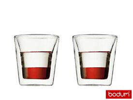 ≪正規輸入品≫bodum(ボダム) キャンティーン 100cc 2個セット ダブルウォールグラス  10108-10 7-2175-0301_ES
