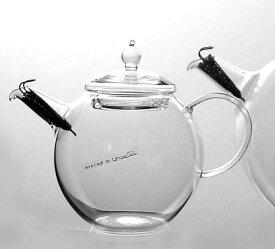 ◎硝子工房クラフトユー 紅茶ポット 1.0L 4人用QPW-10 耐熱ガラスティーポット+5