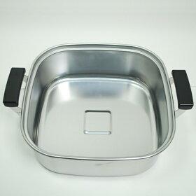 【IH対応】PE18-0ステン角型蒸し器29cm2段(一重)1,2升用