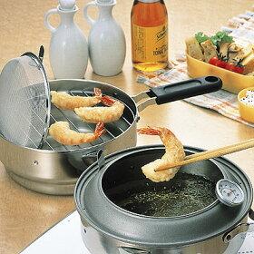 【即納OK!】オイルポットとてんぷら鍋がセットに揚げてお仕舞い天ぷら鍋1.0L20cm