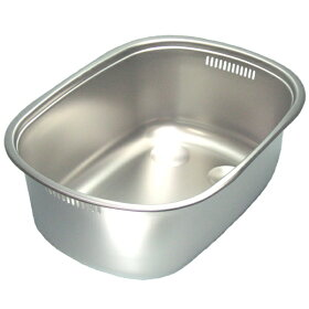 ステンレス洗い桶小判型足付