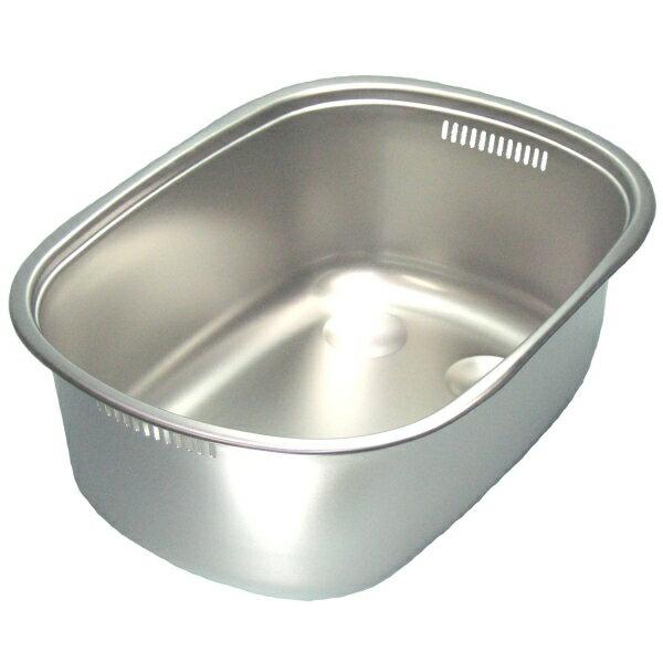 【あす楽】【送料無料】ステンレス洗い桶 小判型足付外寸幅375×奥行き260×深さ130mm 日本製