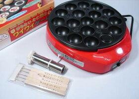 たこ焼き器/電気たこ焼き器ワイワイゲーム油引き・ピック5本付