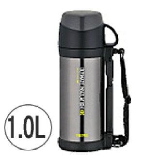 冷和热绝缘 OK !不锈钢保温瓶 1.0 L 酷灰色 FFW-1000年-CGY (水瓶子)
