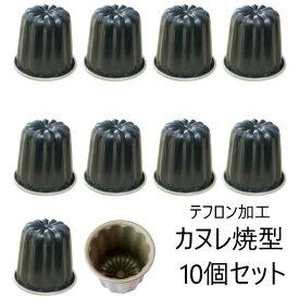 《1月末頃入荷予定》<送料無料、例外九州・北海道は500円>テフロン加工 カヌレ焼型Φ55×55mm 10個セット D-076