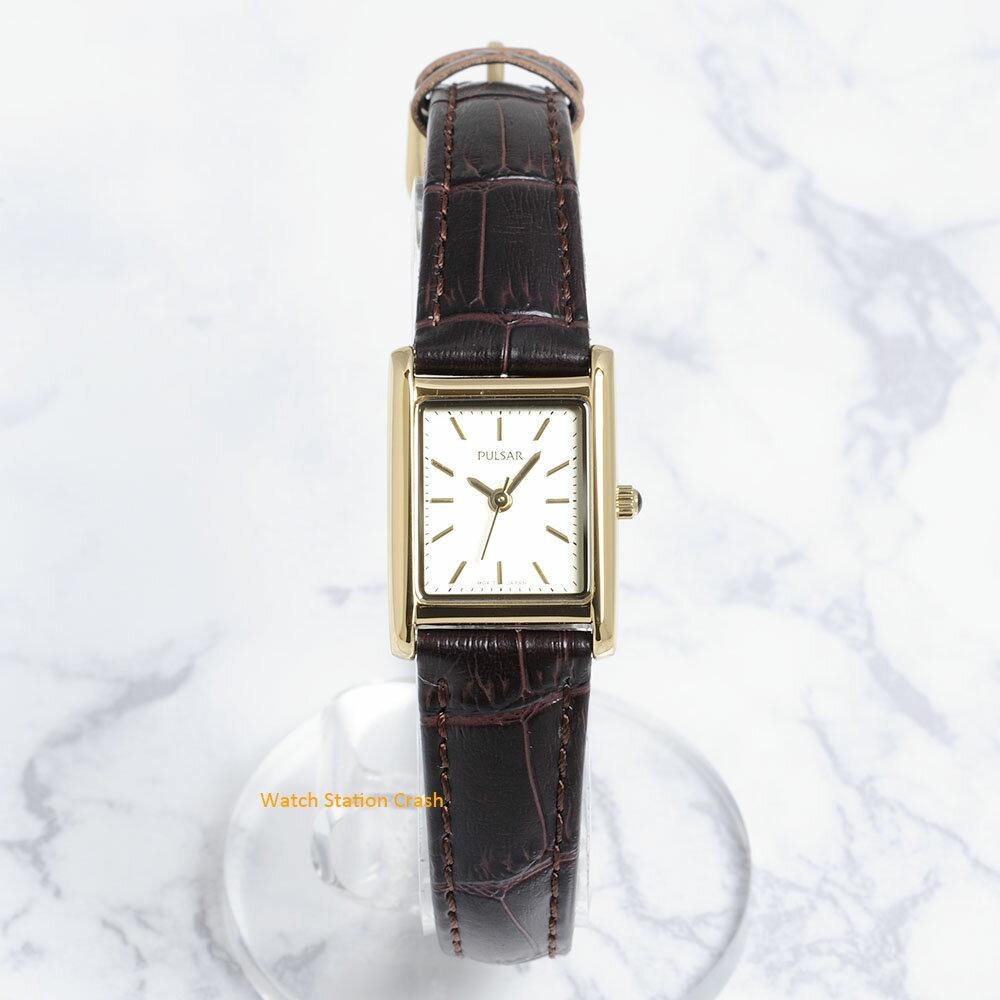 SEIKO PULSAR 腕時計PH8260 パルサー(セイコー)ゴールド文字盤 革ベルトレディース 時計 [あす楽][送料無料/一部地域除く]