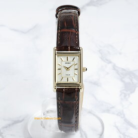 【ソーラーウオッチ】SEIKO セイコー 女性 レディース 腕時計 SUP252 本革ベルト ビジネス 贈り物 gift 誕生日 お祝い 電池交換がいらないモデルです。