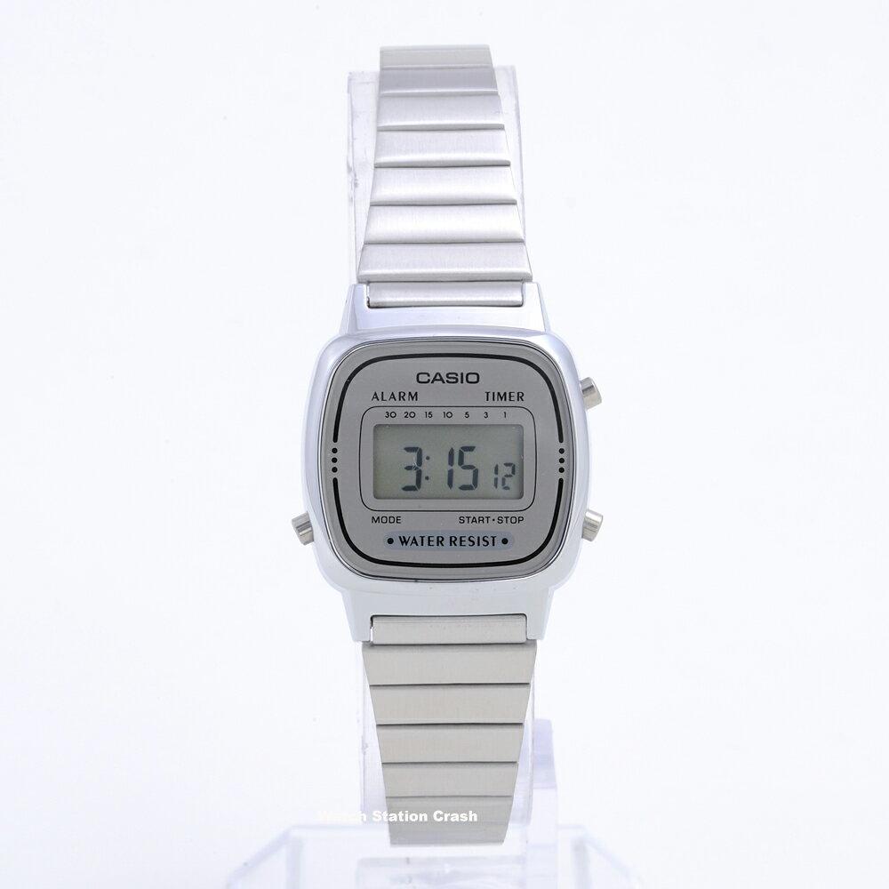 CASIO カシオ 腕時計LA-670WA-7(LA670WA-7) チープカシオ シルバー デジタル チプカシ レディース腕時計 送料無料(BOX無し)