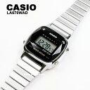 【天然ダイヤモンド】CASIO カシオ 腕時計 LA670WAD-1 LA-670WAD ブラック シルバー チープカシオ チプカシ デジタル 腕時計 レディース 女性 送料無料 BOXなし プレゼント 贈り物