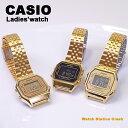 【送料無料】 CASIO カシオ レディース 腕時計 デジタル チープカシオ チプカシ ゴールド ブレス LA680WGA-1B LA680WGA-9 LA680WGA-9B 送料無料 BOX無し メール便