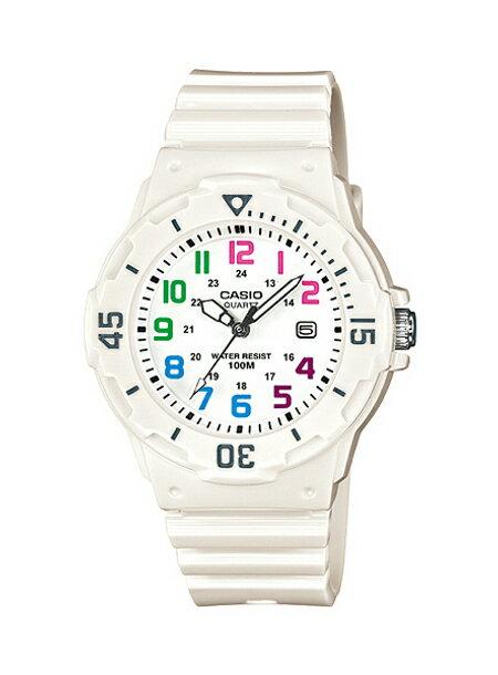 CASIO カシオ腕時計LRW200H-7B チープカシオホワイト×マルチカラーレディース 時計 WATCH送料無料(一部地域除く)