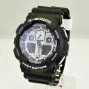 【ポイント2倍】【あす楽】G-SHOCK CASIO カシオGショック アナデジGA-100BW-1A GA100BW200M防水 メンズ 腕時計ブラッ…