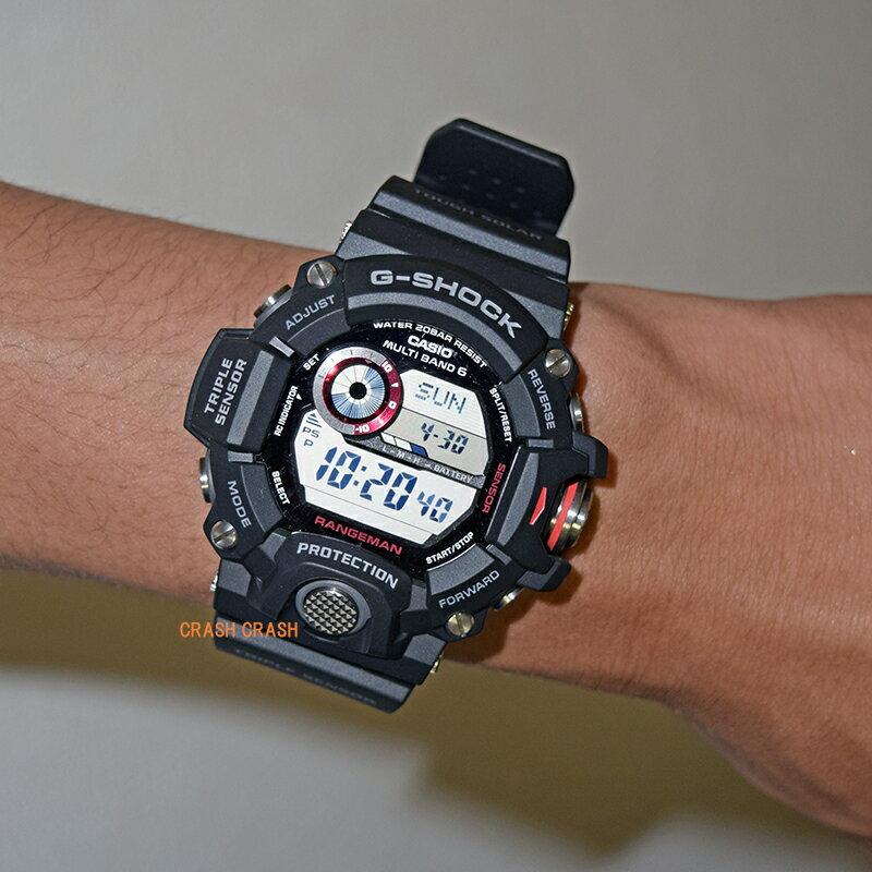 CASIO カシオ G-SHOCKジーショック g-shock RANGEMAN [電波 タフソーラー 20気圧防水 ワールドタイム] ブラック メンズ 腕時計GW9400-1[送料無料][あす楽]