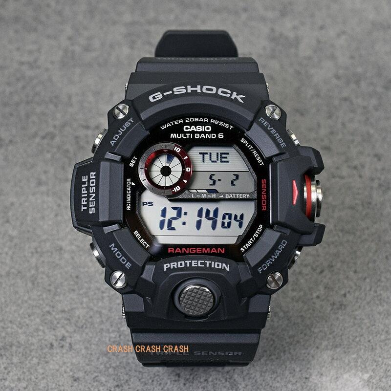 電波タフソーラー 20気圧防水 ワールドタイム CASIO カシオ G-SHOCK g-shockブラック メンズ 腕時計GW9400-1 RANGEMAN MASTER OF G[送料無料]