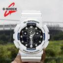 カシオ G-SHOCK GショックGA100B-7 GA-100B-7ADRジーショック ブラック×ホワイトメンズ 腕時計衝撃・水に強い[送料無…