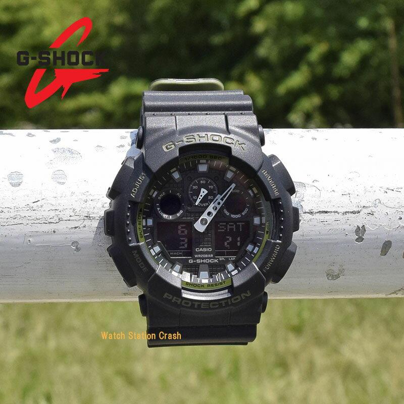 [送料無料][ポイント2倍]G-SHOCK CASIO カシオGA100L-1A人気のミリタリー カラー衝撃 水に強いGショック メンズ腕時計[あす楽/ラッピング無料]