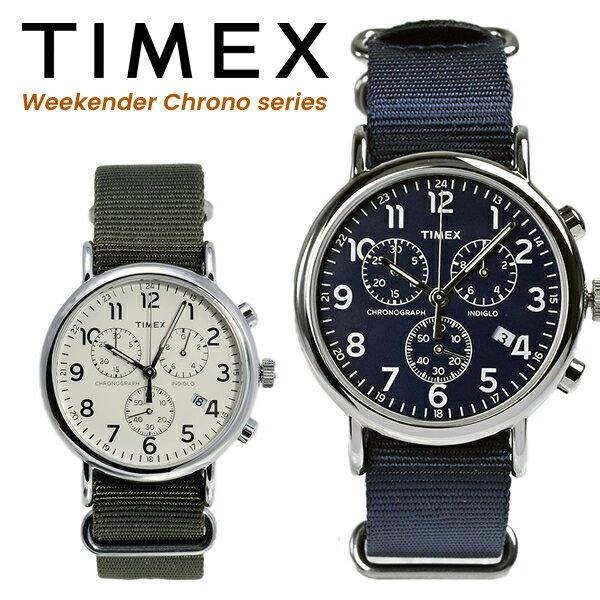 [人気商品]TIMEX タイメックス 腕時計クロノグラフ ウィークエンダー セントラルパーク メンズ 腕時計ネイビー カーキ ナイロン ストラップ TW2P71300(TW2P713)TW2P71400(7W2P714)[あす楽] 防水 カジュアル 男性 紺