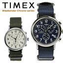 TIMEX タイメックス 腕時計 メンズ クロノグラフ ウィークエンダー セントラルパーク ネイビー カーキ ナイロン スト…