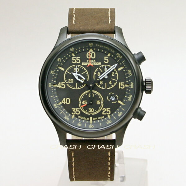 TIMEX タイメックス 時計エクスペディション ミリタリーフィールド クロノグラフ ブラウン革ベルト メンズ 腕時計 T49905[あす楽][送料無料/一部地域除く]