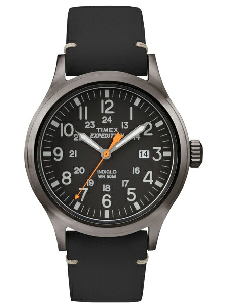 TIMEX タイメックス 時計EXPEDITION SCOUT METAL ミリタリー ブラック 本革ベルト メンズ 腕時計 TW4B01900 [送料無料/一部地域除く]