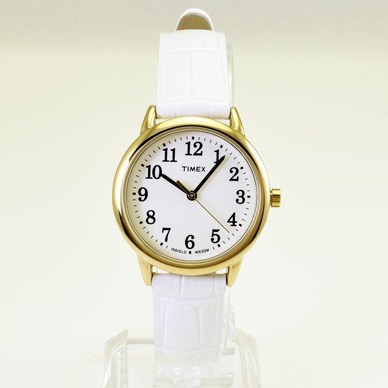 [送料無料][人気商品]TIMEX タイメックス 時計TW2P689 レディース腕時計ホワイト/ゴールド 革ベルト送料無料(ネコポス便)