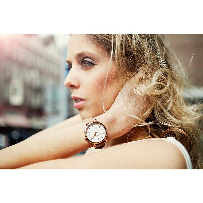 タイメックスTIMEX 腕時計T2P325 クラシックシリーズローズゴールド/革ベルトユニセックス(メンズ レディース)[あす楽] 送料無料(一部地域除く)