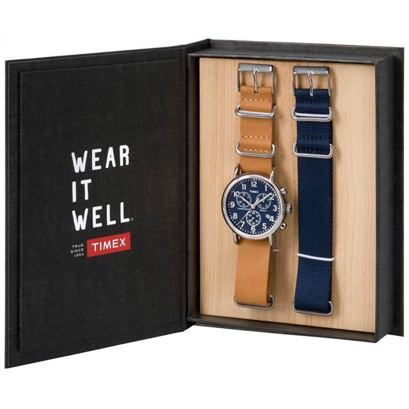 [替えベルト付] TIMEX タイメックス 腕時計ウィークエンダー セントラルパーク ネイビー クロノグラフ ナイロン ストラップ付 メンズ 腕時計 TWG012800 [送料無料 一部地域除く]