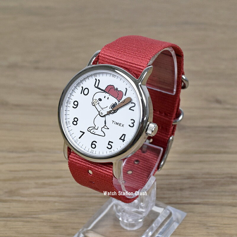 [SNOOPY スヌーピー] アメリカ限定 TIMEX タイメックス 腕時計 ウィークエンダー レッド ユニセックス(レディース)腕時計 tw2r414 [送料無料/一部地域除く]