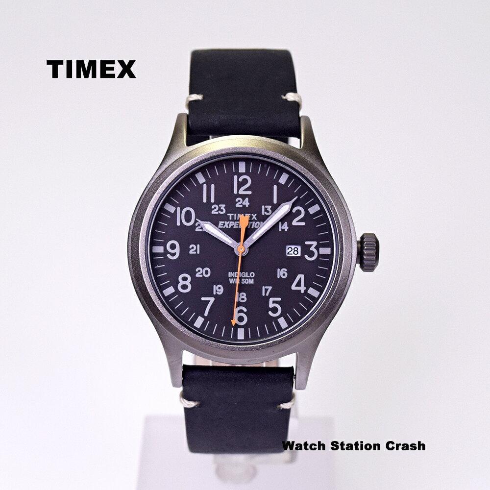 TIMEX タイメックス EXPEDITION SCOUT METAL ミリタリー ブラック 本革ベルト TW4B019 メンズ腕時計 メンズ ナチュラル かわいい 大人 おしゃれ カジュアル アナログ 黒 スポーツウォッチ ユニセックス クラシカル エクスペディション