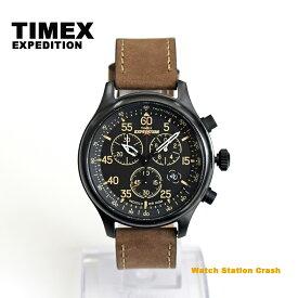 【送料無料】TIMEX タイメックス エクスペディション T49905 ミリタリーフィールド クロノグラフ ブラウン革ベルト メンズ 腕時計 男性 おしゃれ アナログ ユニセックス クラシカル プレゼント ギフト カジュアル かっこいい