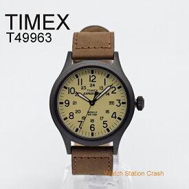 TIMEX T49963 タイメックス 腕時計 ミリタリー テイスト エクスペディション スカウト 40MM BOX無し ブラウン レザーストラップ メンズ 男性 アナログ ウォッチ ギフト プレゼント おしゃれ