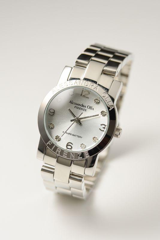 Alessandra Olla Italyアレサンドラオーラ AO-712シルバー ドームガラス レディース腕時計【あす楽】送料無料(一部地域除く)