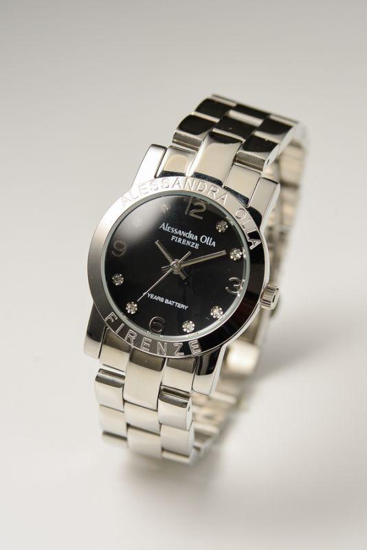 Alessandra Ollaアレサンドラオーラ選べるカラバリ 球面ドームガラス ブレス レディース腕時計 AO-711/AO-712/AO-714/AO-715送料無料(一部地域除く)