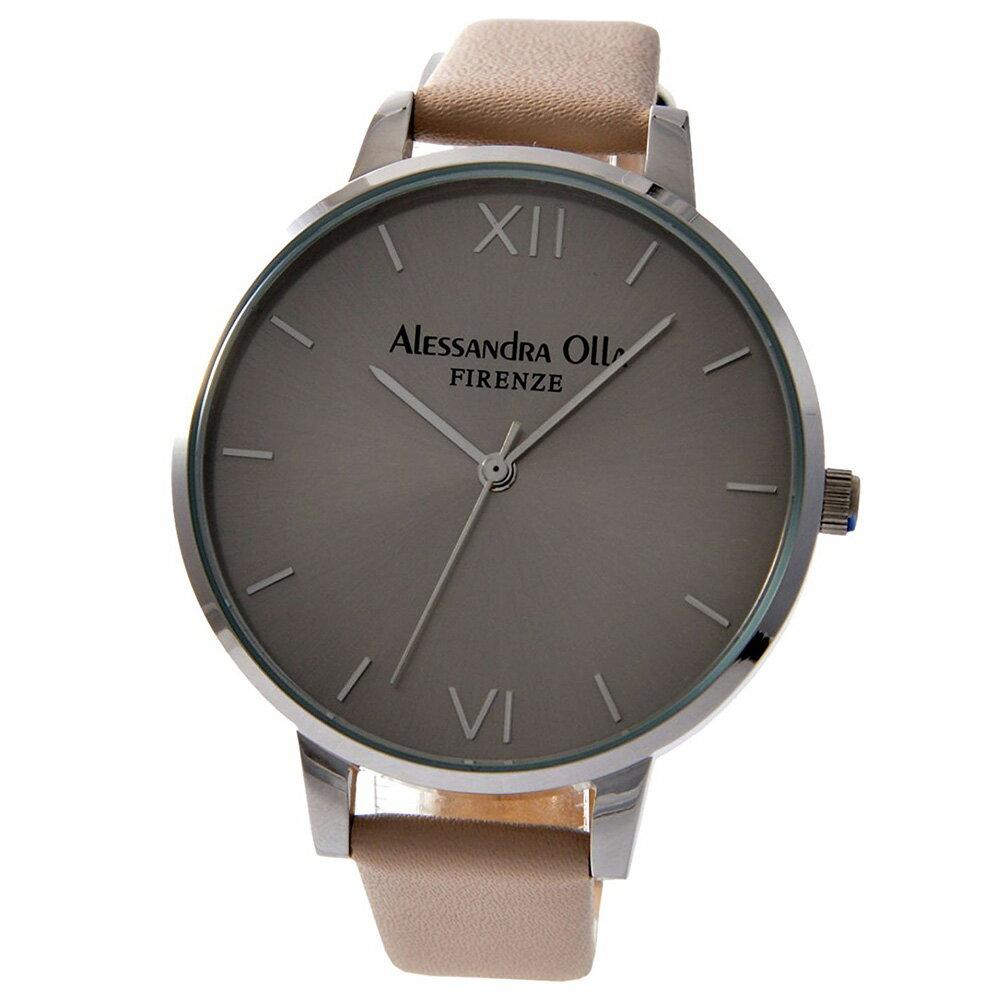 [送料無料]Alessandra OllaアレサンドラオーラAO25-1 シルバー×シルバー×アイボリースタイルを選ばないシンプルなレディース 腕時計 ウオッチ[あす楽]