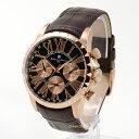 Salvatore MarraSM15103pgbk本革ベルト メンズ 時計マルチファンクションカレンダー送料無料(一部地域除く)【あす楽】【ポイント10倍】