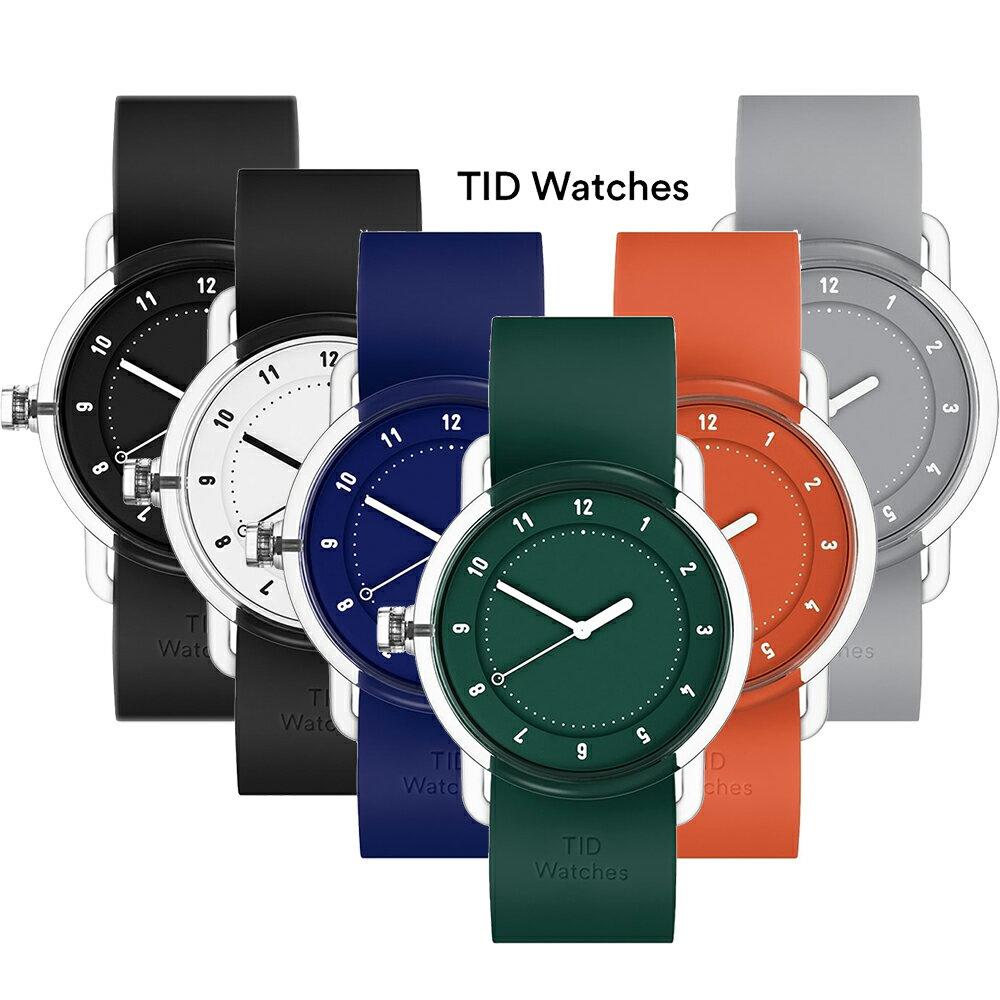 TID WatchesティッドウォッチTID03 38mmBK/BK WH/BK BL/BL GR/GR OR/OR GY/GYスケルトンケース 全6色文字盤メンズ/レディース腕時計【日本正規品】[あす楽][送料無料][ポイント10倍]