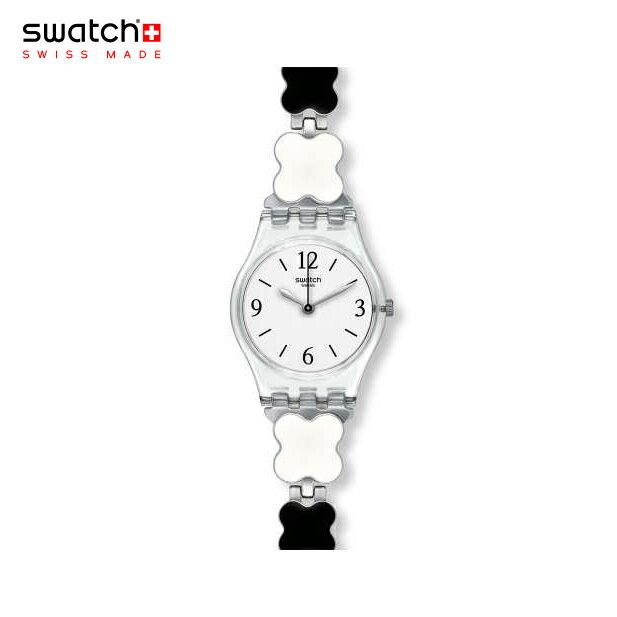 [日本正規品][ポイント10倍]swatch(スウォッチ)日本正規品LK367G レディース腕時計CLOVERCHECK 四葉のクローバー モノトーンデザイン[あす楽] ★送料無料(一部地域除く)