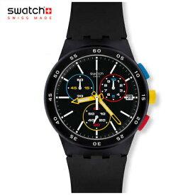 【NEW MODEL】【ポイント10倍】swatch(スウォッチ) 腕時計 メンズ BLACK-ONE ブラックワン SUSB416 Originals(オリジナルズ) CHRONO(クロノ) 安心の日本正規品