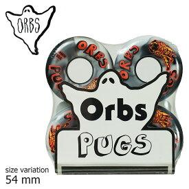 ORBS Pugs 85a BLACK / WHITE 54mm WHEEL ウィール オーブス スケボー スケートボード