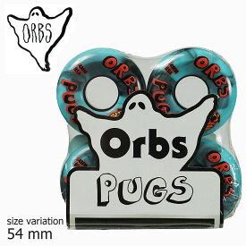 ORBS Pugs 85a BLACK / BLUE 54mm WHEEL ウィール オーブス スケボー スケートボード