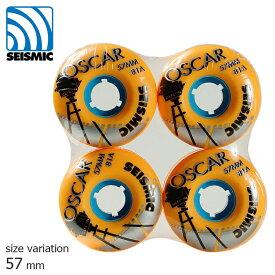 SEISMIC WHEEL OSCAR ORANGE 57mm 81a セイスミック ウィール ソフト クルーザー用 クルージング スケートボード スケボー