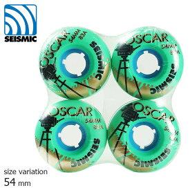 SEISMIC WHEEL OSCAR GREEN 54mm 83a セイスミック ウィール ソフト クルーザー用 クルージング スケートボード スケボー