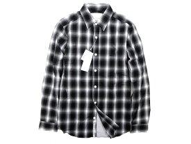 nanamica ナナミカ monotone check wind shirt チェック柄 切替 長袖 ウインドシャツ XS /mo20171018-7 /SALE